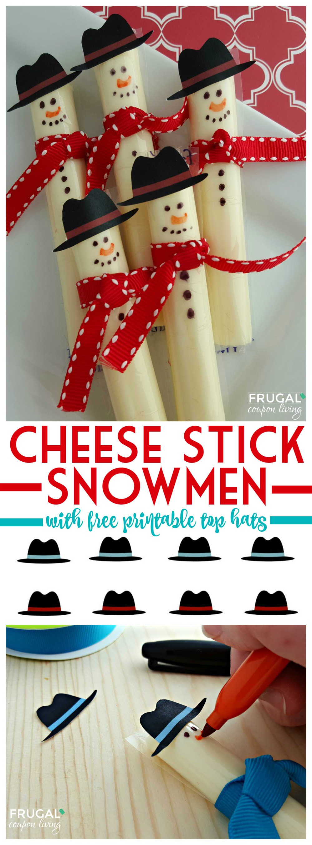 cheese-stick-snowmen-with-printable-top-hats-frugal-coupon-living