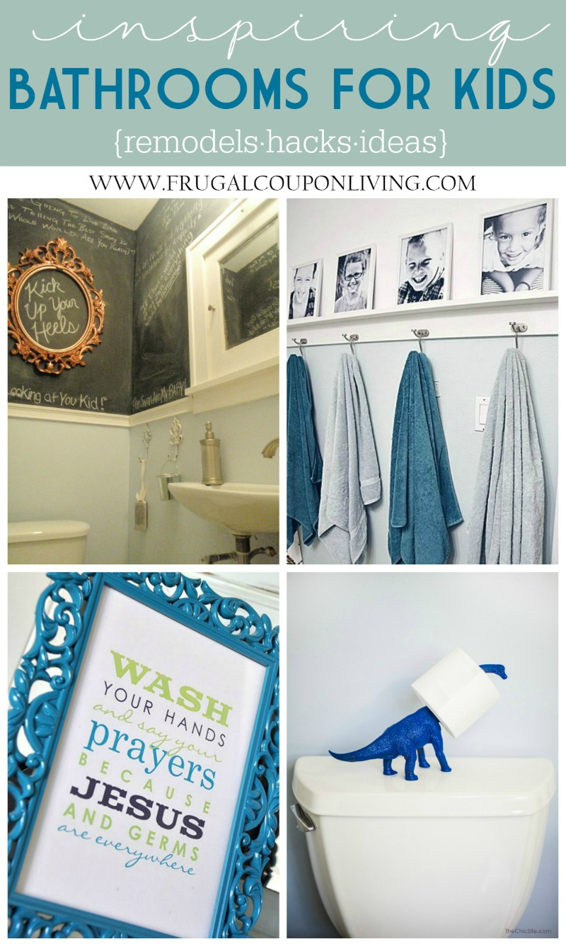 Bathroom Decorations for Kids Collage on Frugal Coupon Living