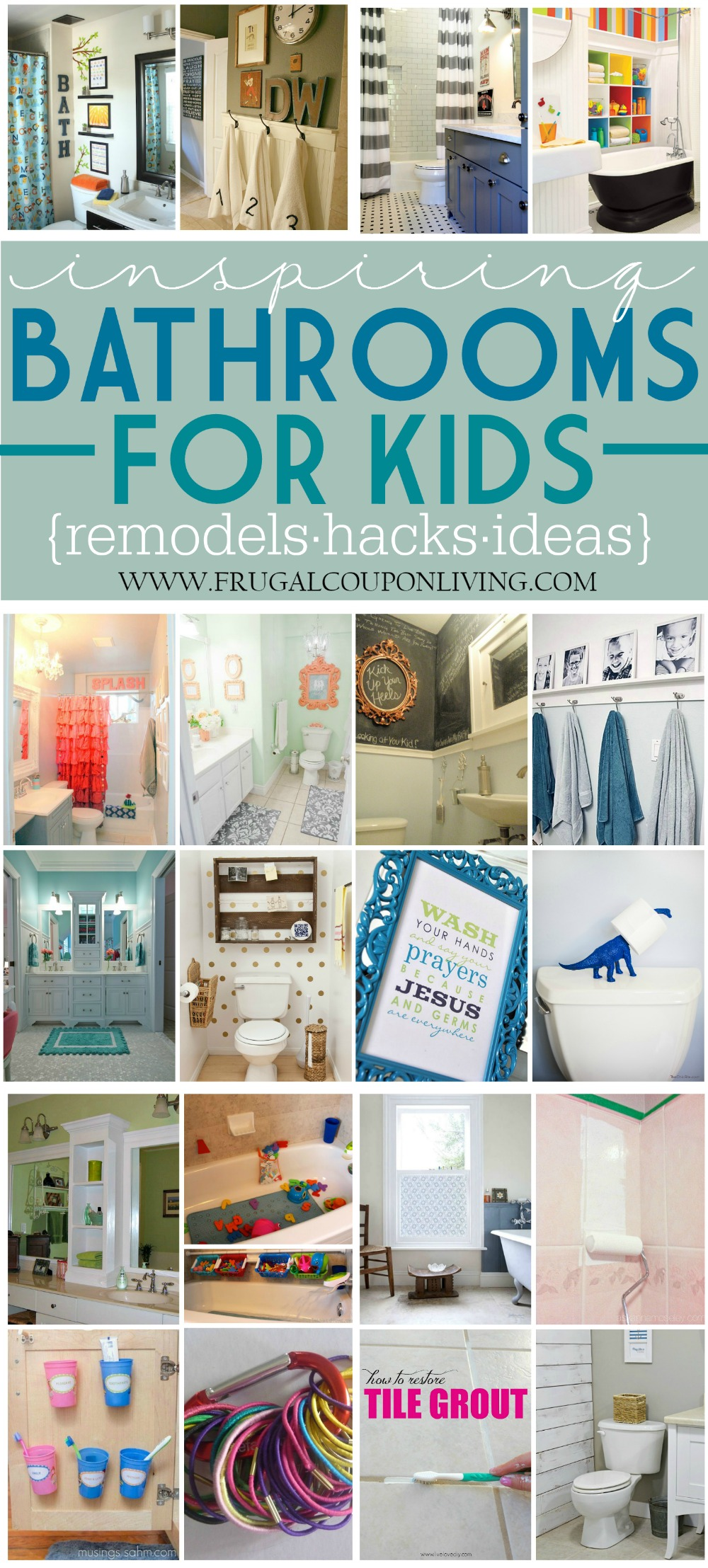Inspiring Bathrooms for Kids on Frugal Coupon LIving