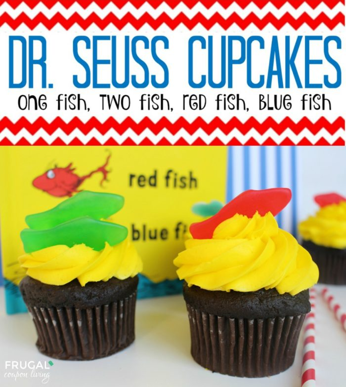 Dr Seuss Day Cupcakes
