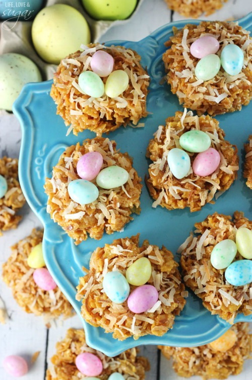 No-Bake-Caramel-Coconut-Nest-Cookies