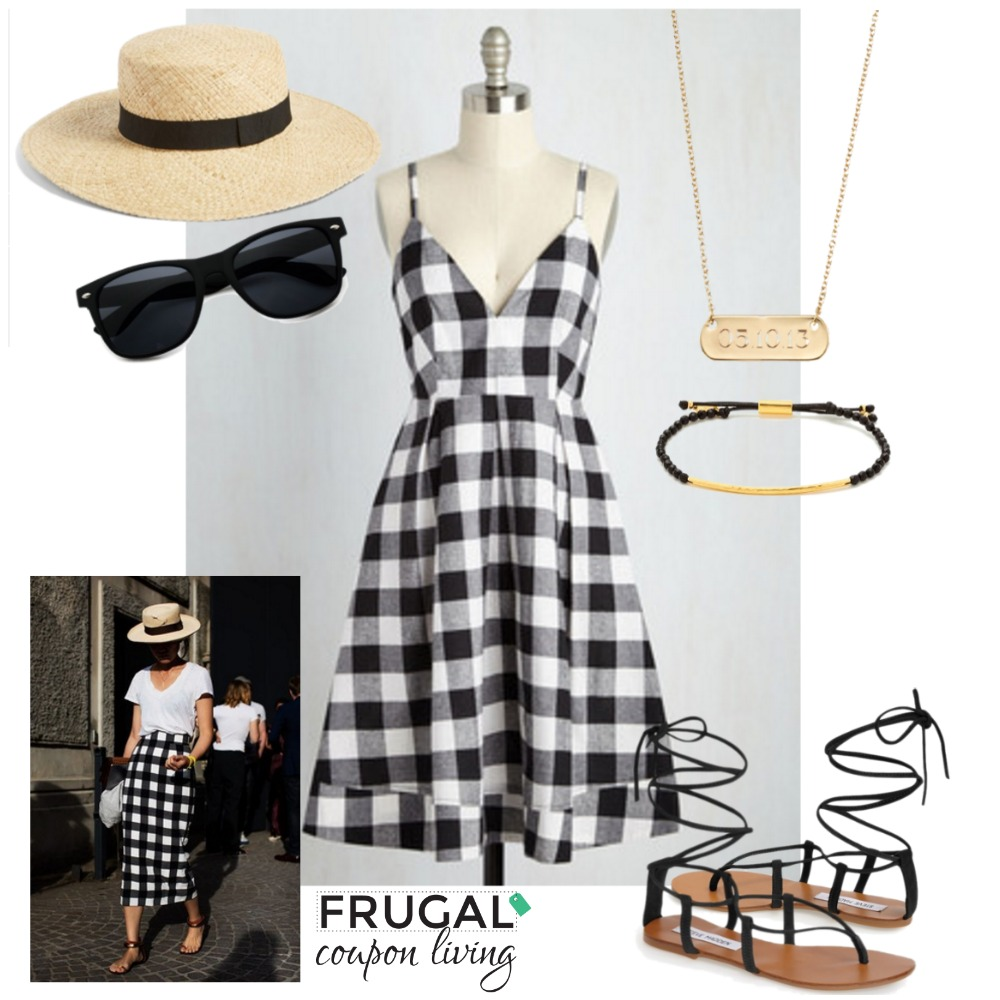 black-checked-dress-outfit-frugal-fashion-friday