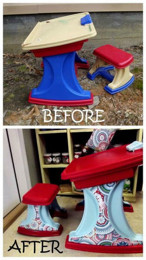 baby desk upcycle