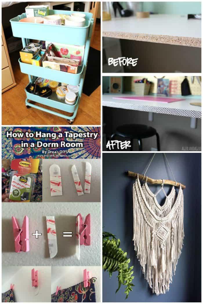cheap dorm room décor diy