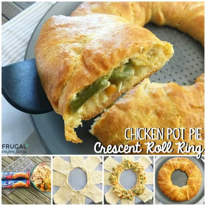 Chicken Pot Pie Crescent Roll Ring