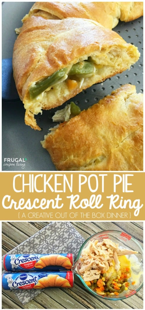 Chicken Pot Pie Crescent Roll Ring - Pillsbury Recipe
