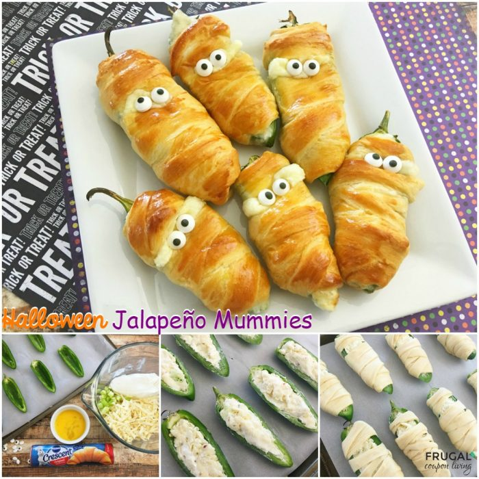 Halloween Jalapeño Popper Directions and Ingredients