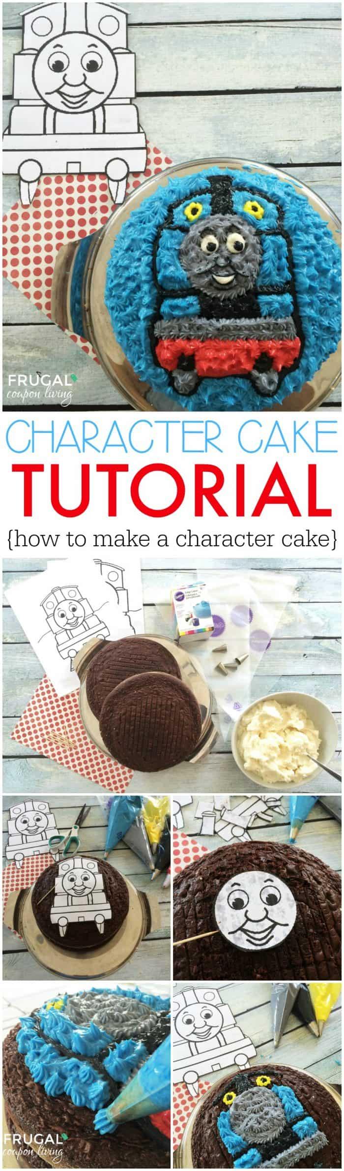 Character Cake Tutorial - Easy Thomas the Train Cake