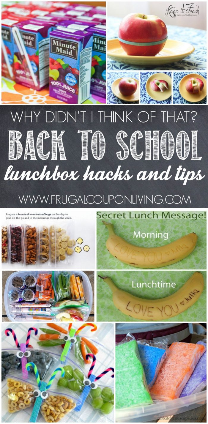 School Lunch Hacks - School Lunch Ideas, Tips, and Lifesavers