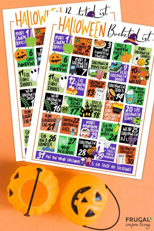 Halloween Bucket List Printable + Fall Bucket List Ideas