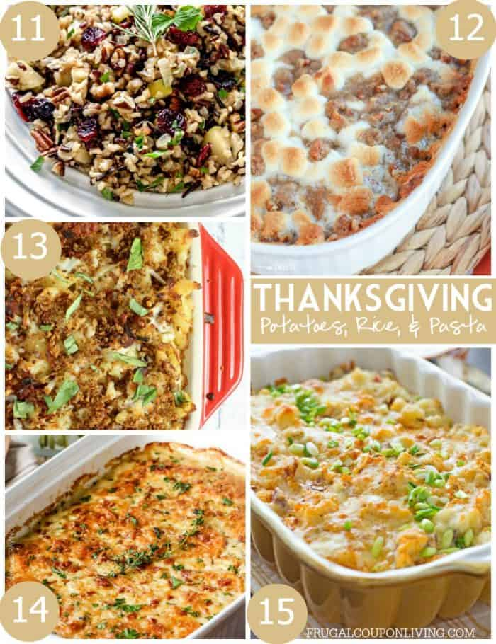 Thanksgiving-Potatoes-Rice-Pasta-collage-frugal-coupon-living