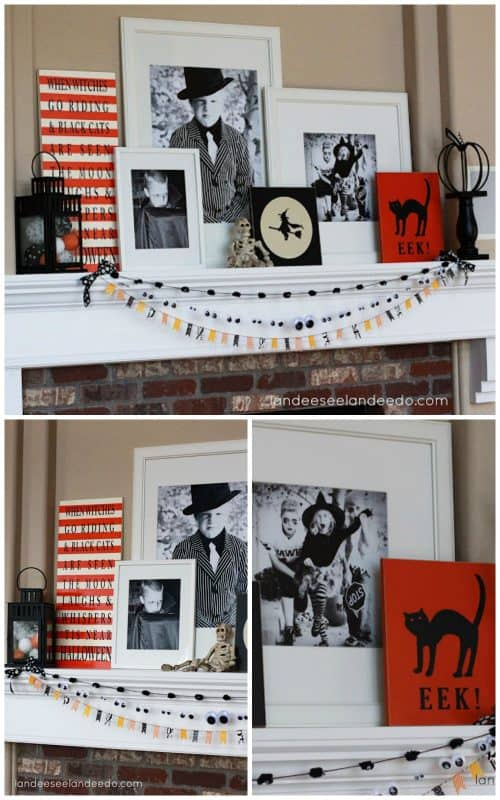 halloween-photograph-mantle-collage