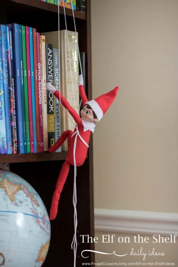 Elf on the Shelf Climbs a Bookcase + Elf School Ideas