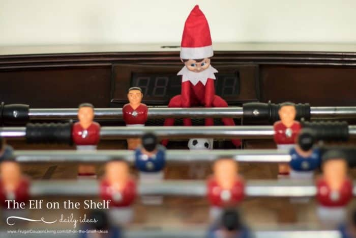 Elf on the Shelf Foosball Game + Elf Ideas with Games