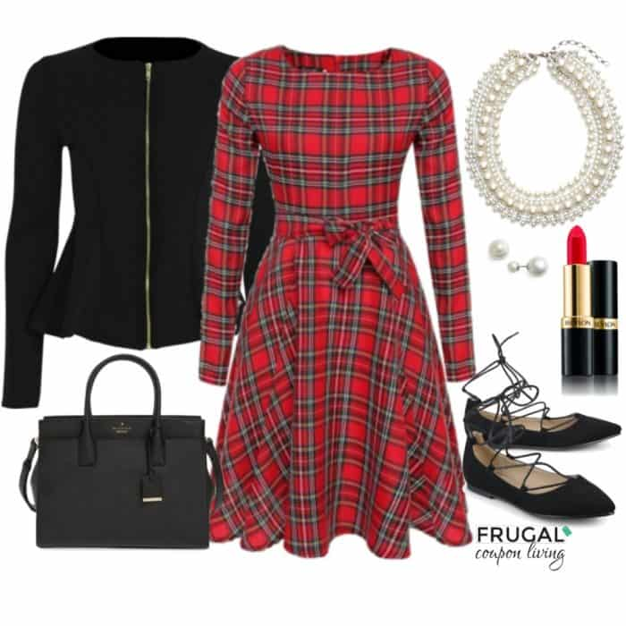 frugal-fashion-friday-red-plaid-holiday-outfit-frugal-coupon-living