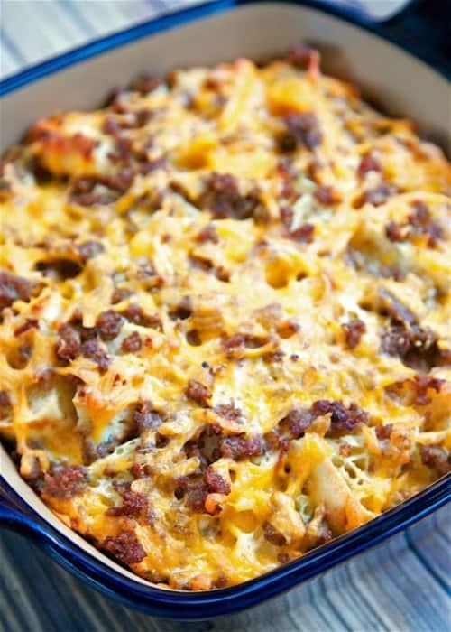 sausage mcmuffin casserole copy