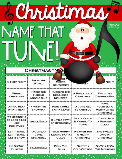 Christmas Name that Tune Printable Game & Holiday Traditions