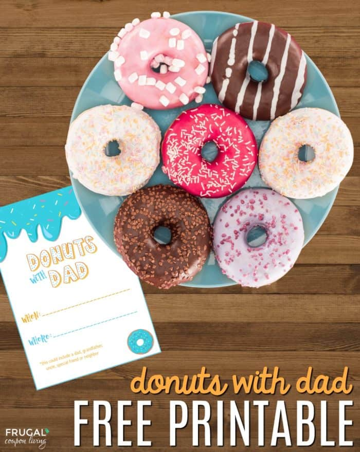 Free printable doughnuts with dad