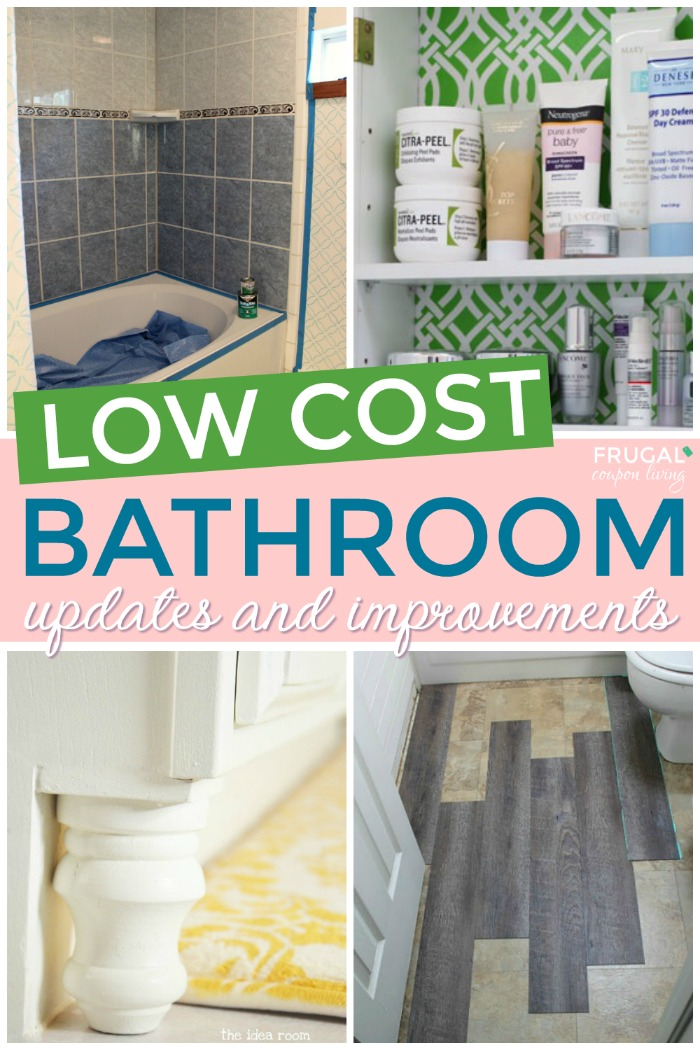 Low Cost Bathroom Makeovers and Remodels