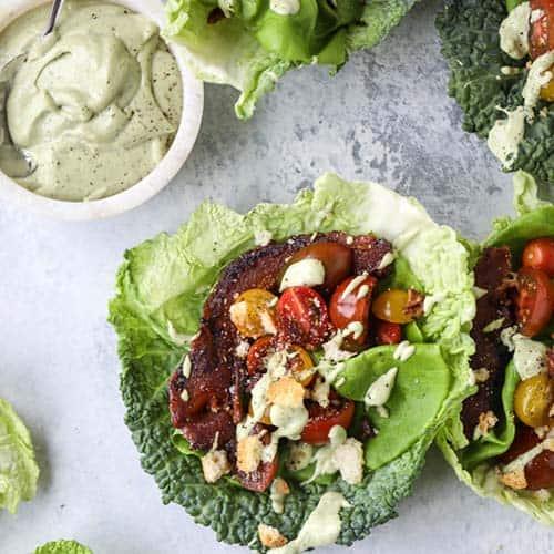 BLT lettuce wraps-keto diet recipes