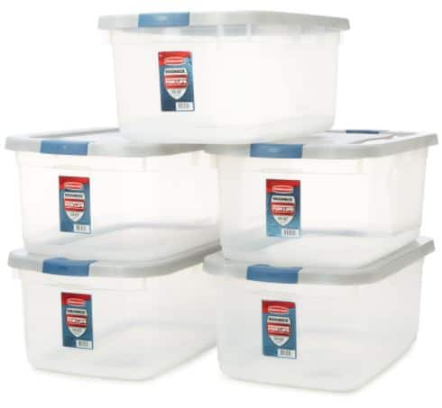 Rubbermaid Roughneck Clear Storage Container 5-Pack