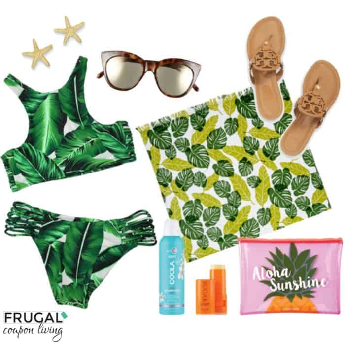 Frugal Fashion Friday Palm Leaves Swimsuit