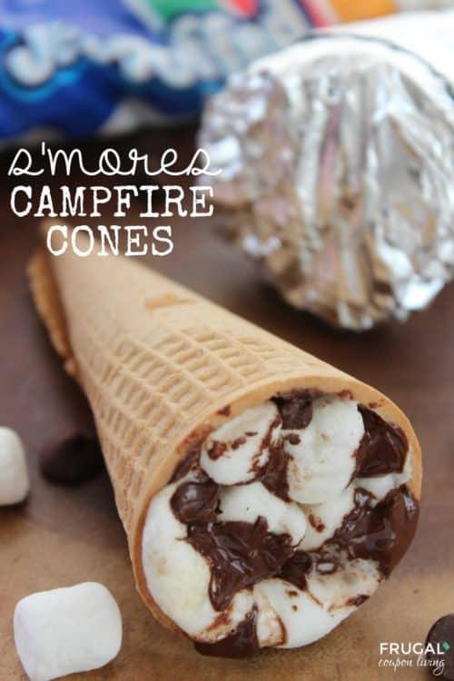 Smores Campfire Cones