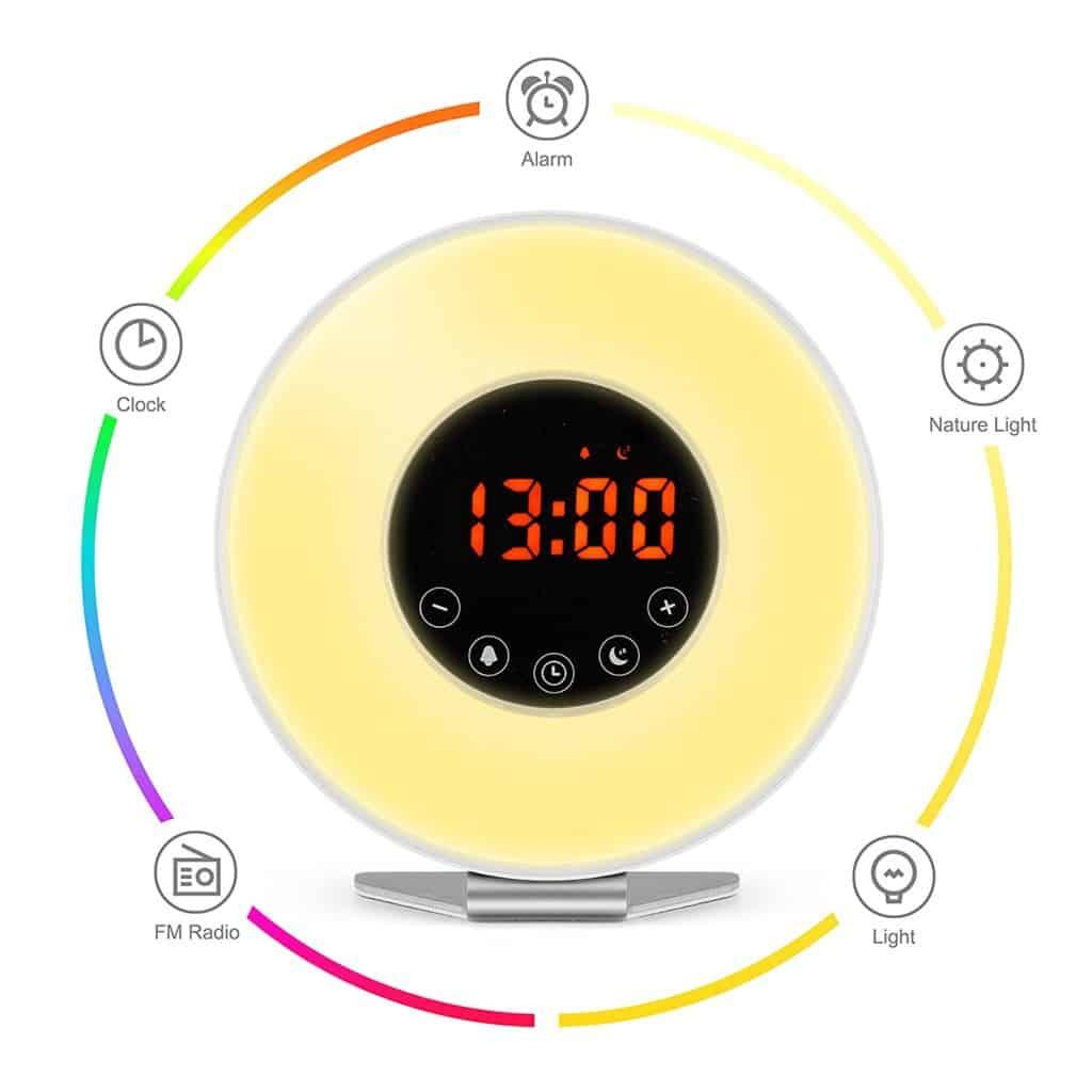 Sunrise Simulator Alarm Clock with Night Light