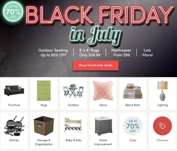 Wayfair Black Friday In July Get Up To 70 Off