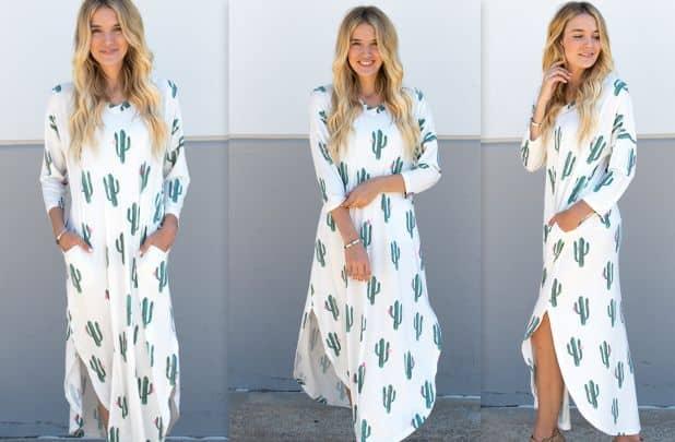 cactus maxi dress