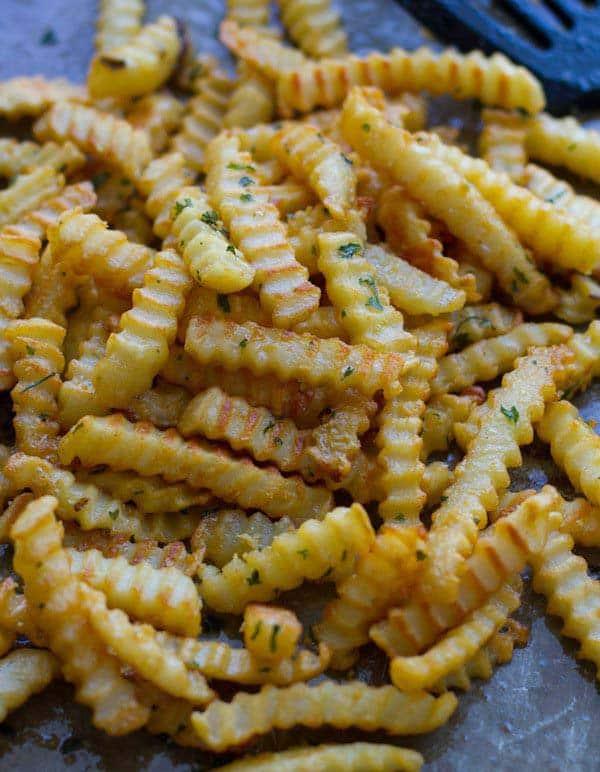 crinkled fries