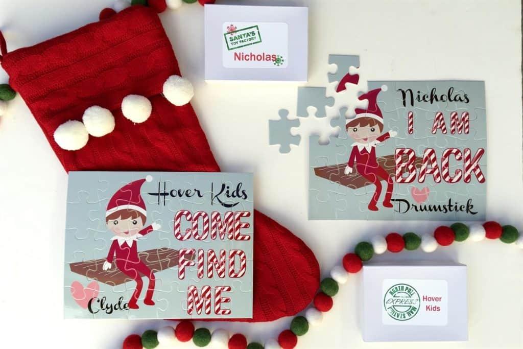 personalized elf puzzle