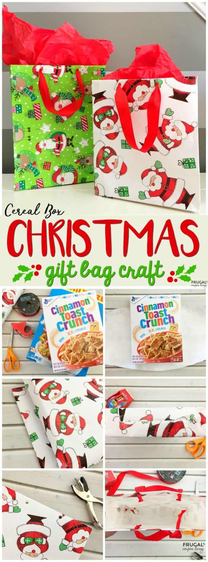 Cereal Box Gift Bag Christmas Craft