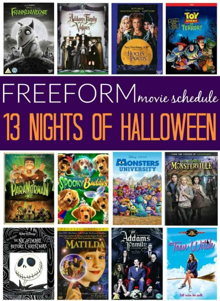 Freeform 13 Nights of Halloween 2017 Movie Schedule