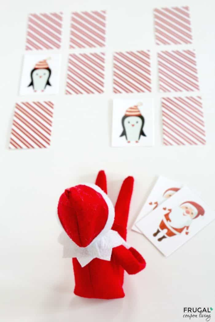 Elf on the Shelf Matching Game + Elf on a Shelf Ideas with Games