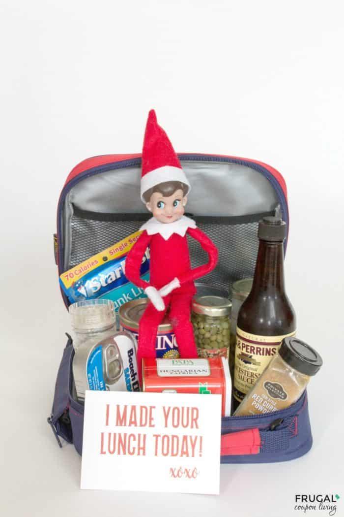 Elf on the Shelf Lunch Idea & School Ideas