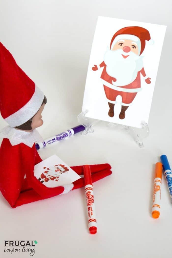 Elf Sketches Santa Claus