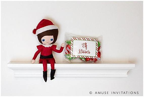 Elf on the Shelf Ideas | Elf Kisses Instant Download
