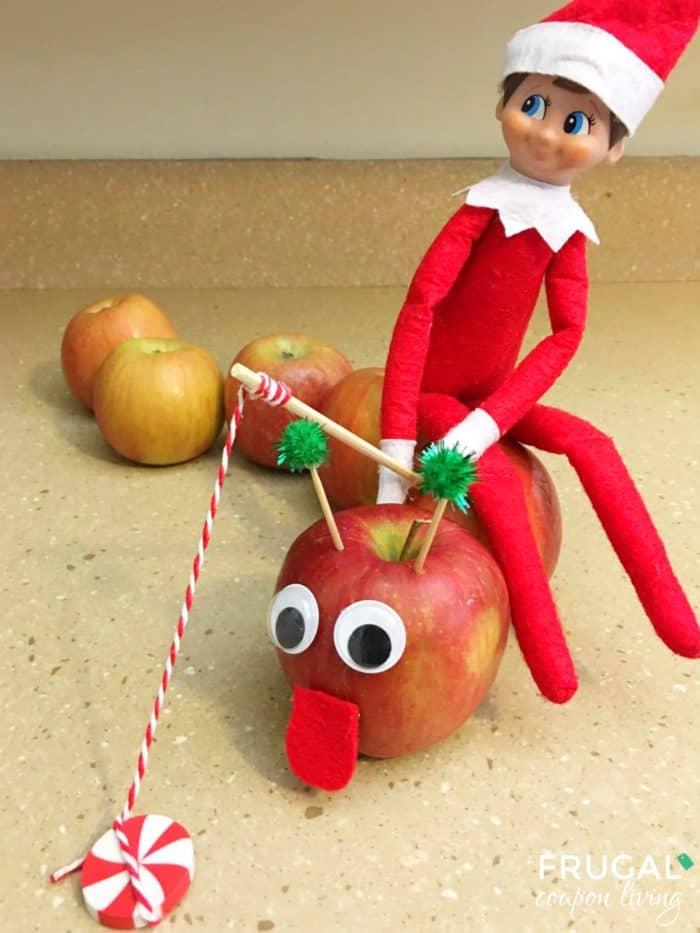 Worm Elf on the Shelf Apple Idea