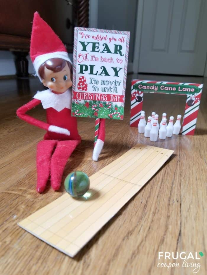 Elf on the Shelf Bowling Game and Elf Game Ideas