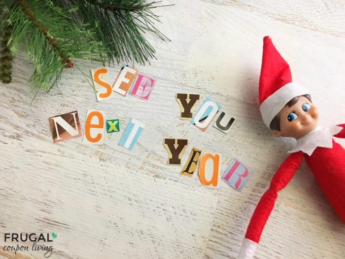 Goodbye Note from the Elf on the Shelf