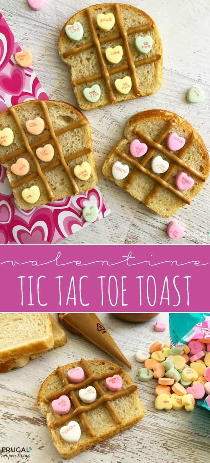 Valentine Food Craft | Tic Tac Toe Toast
