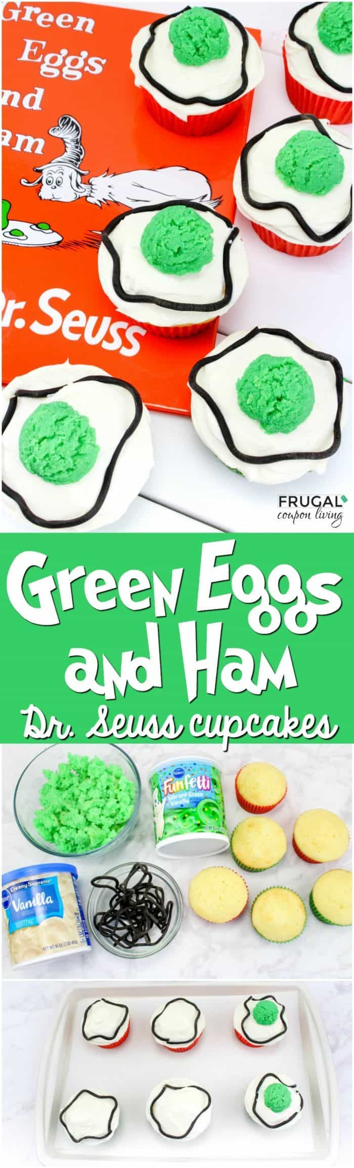 Green Eggs and Ham Dr. Seuss Cupcakes