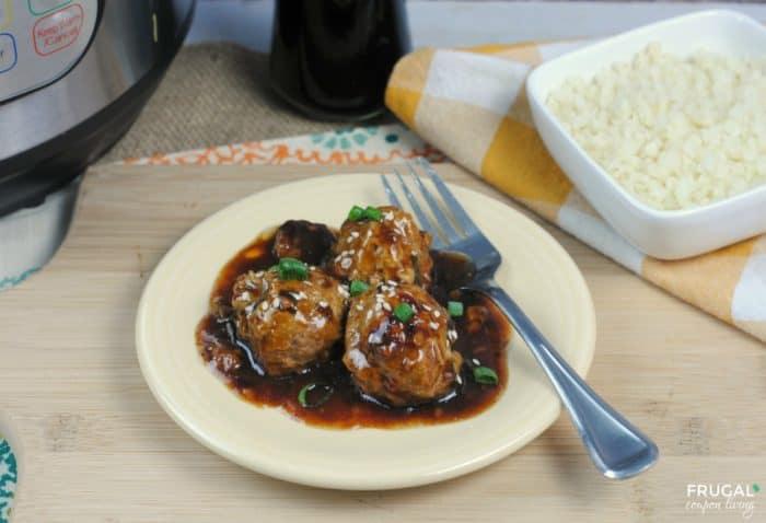 Instant Pot Turkey Teriyaki Meatballs
