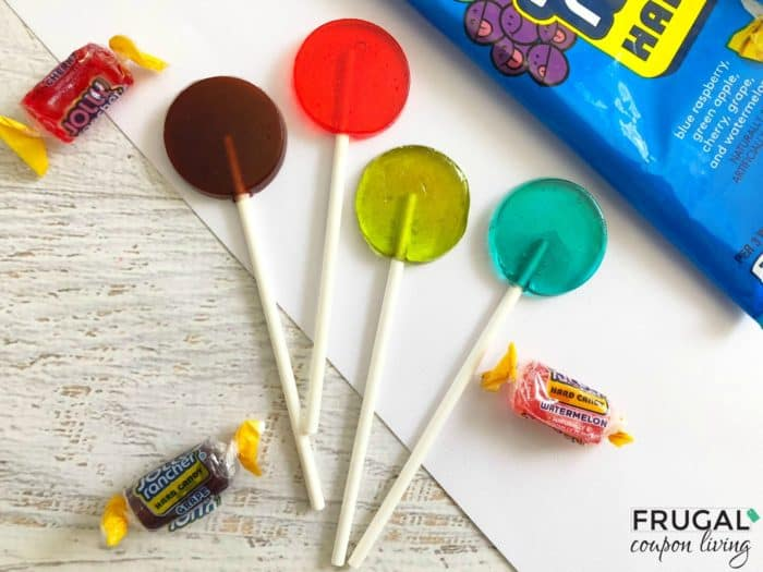 Homemade Jolly Rancher Lollipops