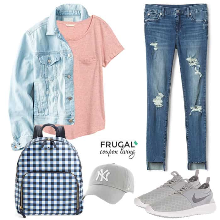 Frugal Fashion Friday Denim on Denim Outfit