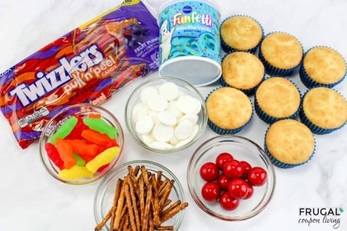 Fishing Cupcakes Ingredients