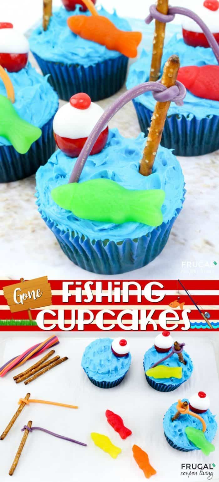 Fishing Cupcakes - Beach Theme Party