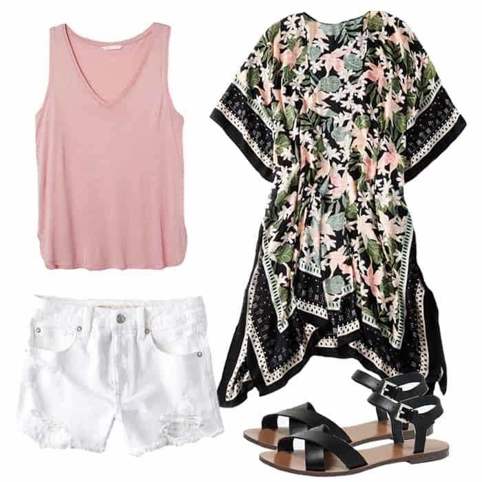 Frugal Fashion Friday Versatile Kimono Outfit