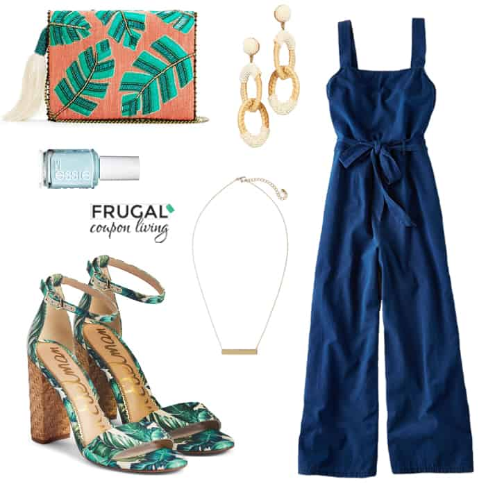 Frugal Fashion Friday Hints of Palm Print Outfit
